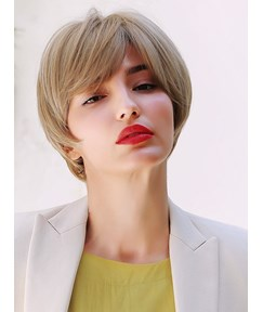 Short Pixie Natural Straight Synthetic Hair Women Wig 8 Inches