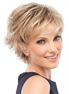 Short Choppy Hairs Synthetic Hair Wavy Wig 10 Inches