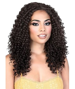 Long Kinky Curly Synthetic Hair Women Wig 20 Inches