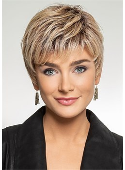 Boy Cut Hairstyle Synthetic Hair Women Wig With Bangs 8 Inches