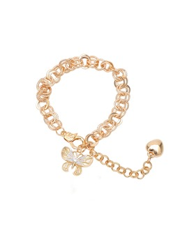 Sweet Women/Ladies Animal Pattern Link Chain E-Plating Technic Charm Bracelet