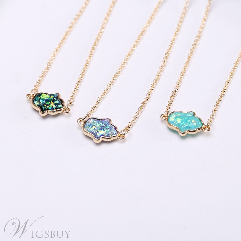 Sweet Style Lady/Women's Gemmed Technic Alloy Pendant Link Chain Pendant Necklace