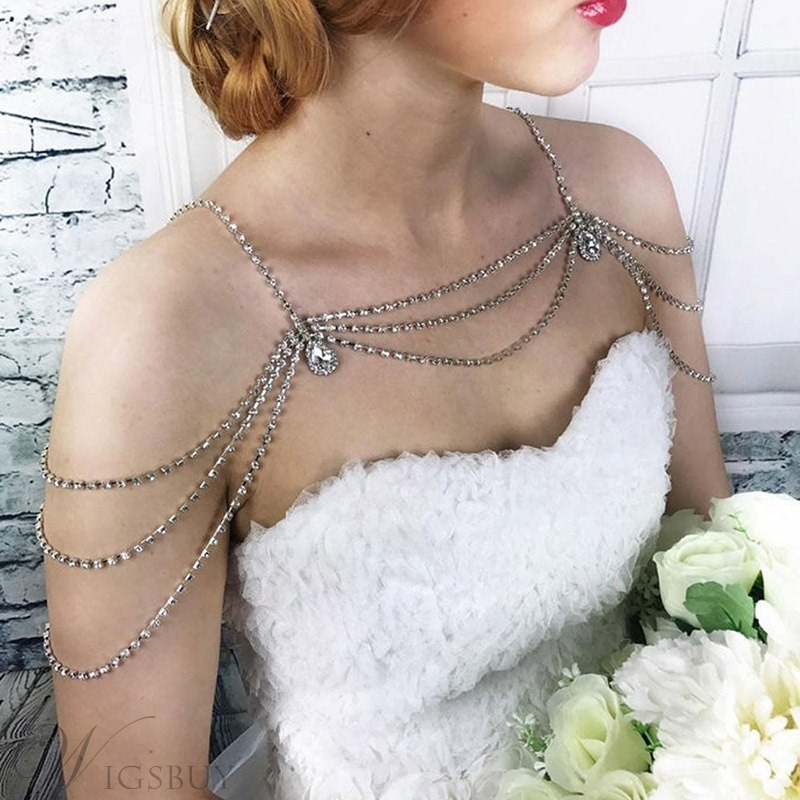 Women/Ladies Korean Style Diamante Technic Body Chain For Prom/Engagement/Anniversary/Wedding/Party/Birthday/Gift