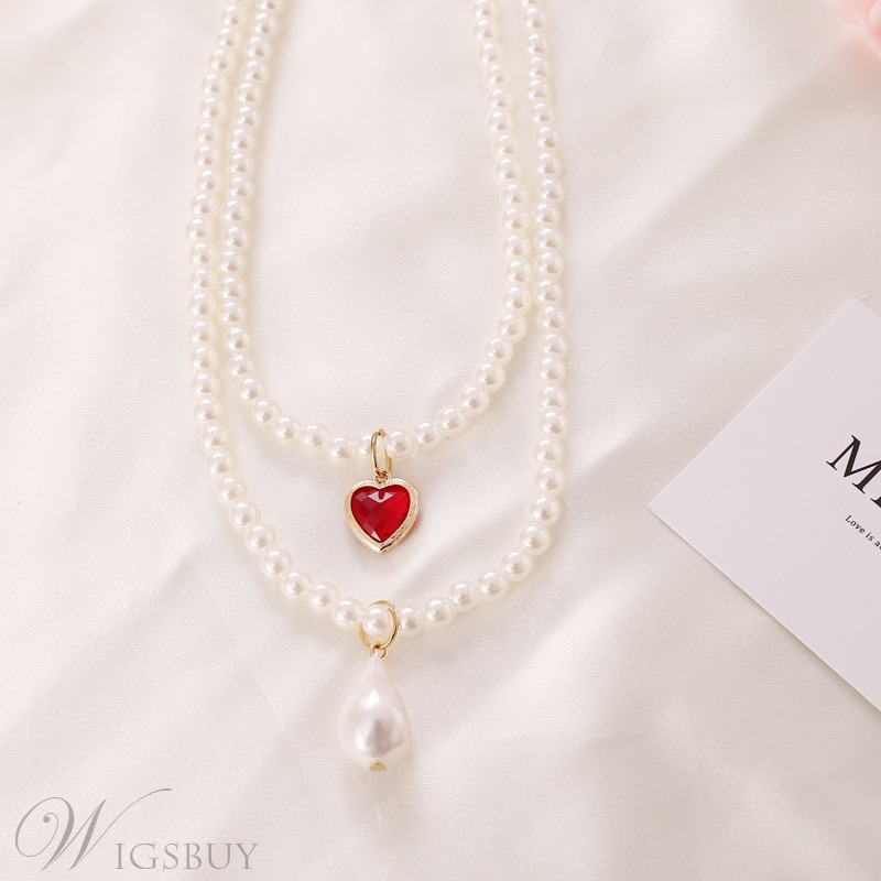 Alloy Pendant Material Women's Sweet Style E-Plating Technic Pendant Necklace
