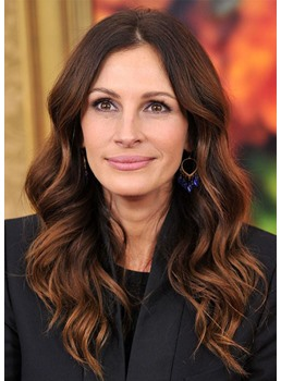 Natural Looking Women's Body Wavy Middle Part Human Hair Lace Front Cap Wigs 22Inch