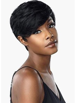 Women's Short Pixie Boy Cut Hairstyle Natural Straight Human Hair Lace Front Wigs 6Inch
