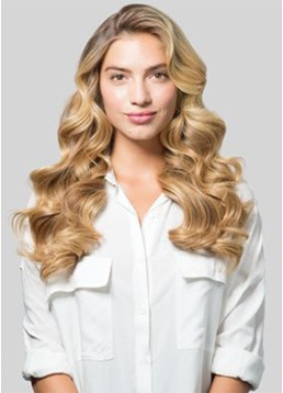 Women's Long Length Wavy Hairstyle Body Wavy Synthetic Hair Lace Front Wigs 22Inch