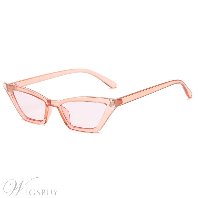 Audlt Women's Vintage Style Plastic Frame Poly Carbonate Lens Cat Eye Shape Sunglasses