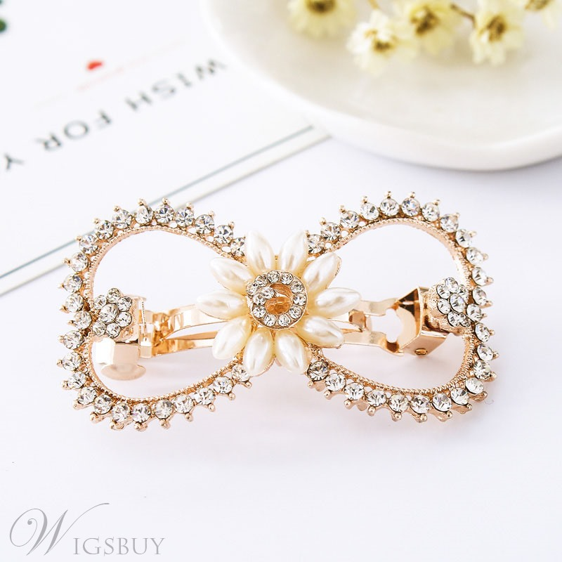 Adult Lady/Women's Animal/Floral Diamante Technic Crystal Hair Pin Accessories