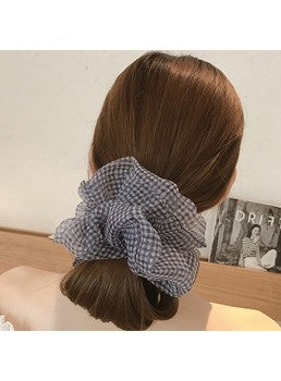 Korean Style Lady/Women's Plaid Pattern Yarn Material Hair Rope Accessories