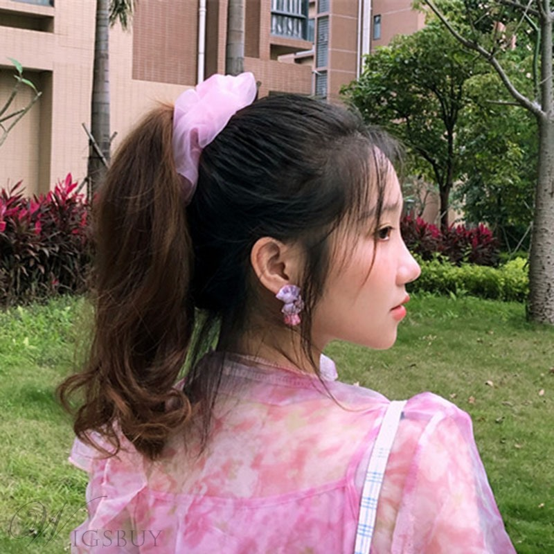 Adult Lady/Women's Korean Style Plain Pattern Yarn Material Hair Accessories Hair Rope For Birthday/Gift