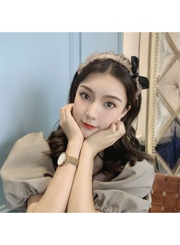 Korean Style Women/Ladies Plain Pattern Yarm Material Hairband Hair Accessories