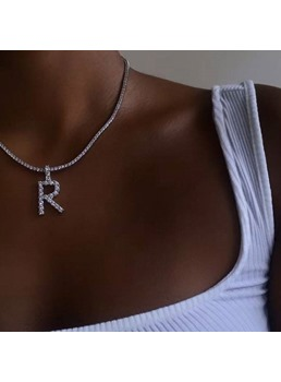 European Style Women/Ladies E-Plating Technic Alloy Pendant Material Chain Necklace