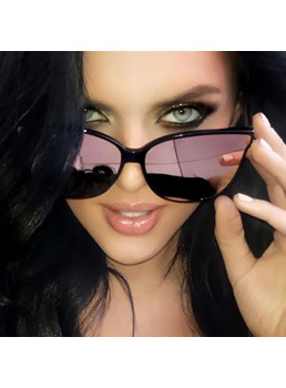Adult Women's Vintage Style Resin Lens Square Sunglasses