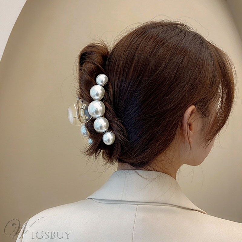 Korean Style Lady/Women's Pearl Inlaid Technic Pearl Hair Claw Hair Accessories