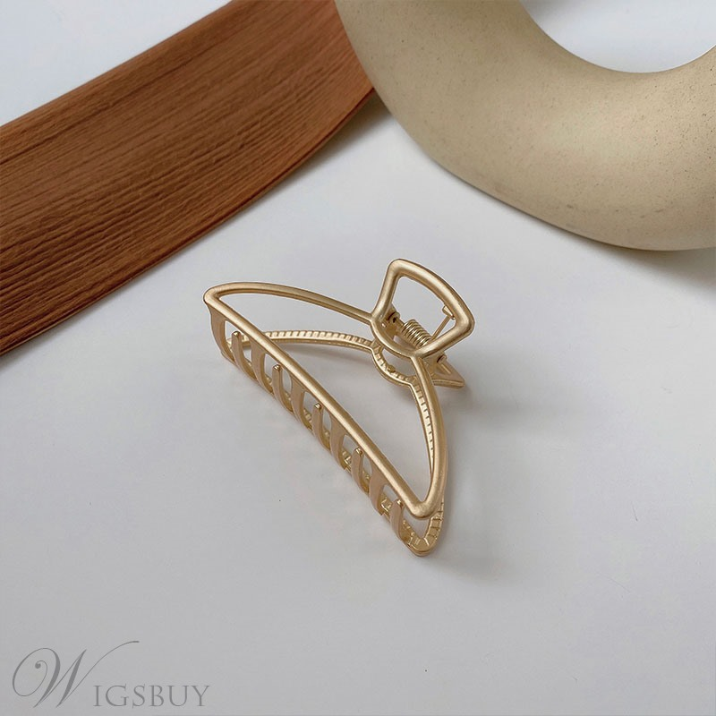 Korean Style Women/Ladies E-Plating Technic White Gold Material Hair Accessories Hair Claw