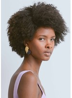 Afro Curly Synthetic Hair Capless Wigs For African American Women 12Inch