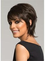 Short Pixie Cut Natural Straight Synthetic Women Wig 10 Inches