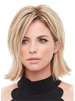 Long Bob Hairstyle Straight Synthetic Hair Capless Wigs 14 Inches