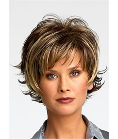 Short Pixie Cut Natural Straight Synthetic Wig 10 Inches