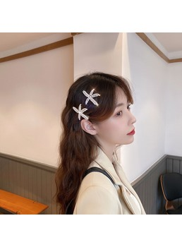 Women/Ladies Korean Style Diamante Technic Barrette Hair Accessories