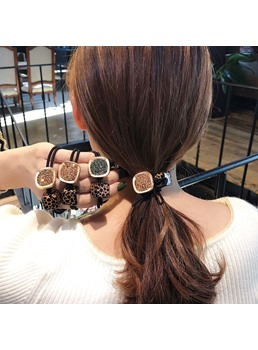 Sports Adult Korean Style Women's Leopard Pattern Hair Rope Hair Accessories