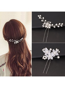 Women/Lady/Girls Korean Style Pearl Inlaid Technic Hair Accessories Hair Stick