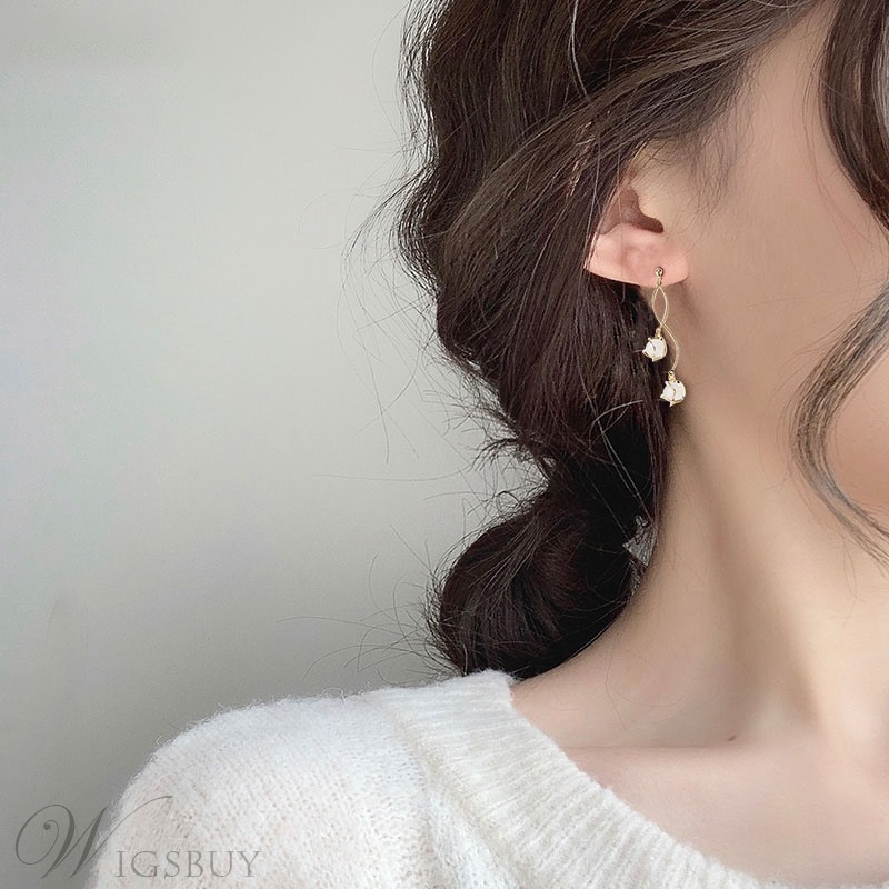 Alloy Material Women/Ladies Korean Style Drop Type Earrings For Prom/Party/Birthday/Gift