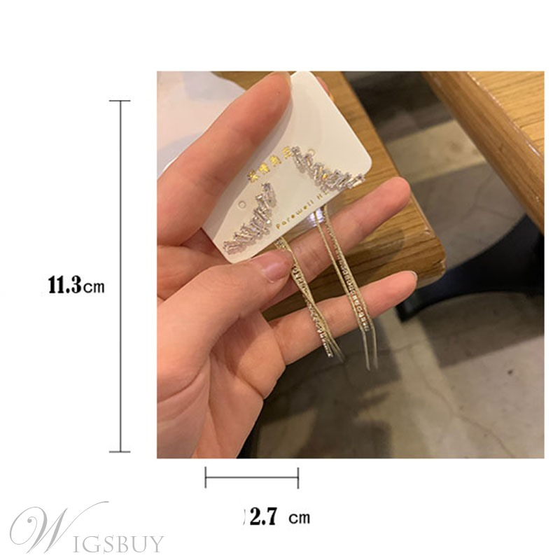 Suitable Occasion Party Birthday Gift Women/Ladies Korean Style Alloy Drop Type Earrings