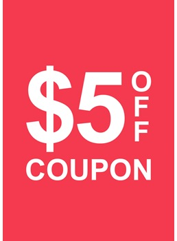$5 OFF Coupon For Any Order