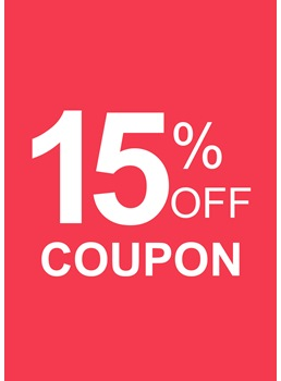 15% OFF Coupon For Any Order