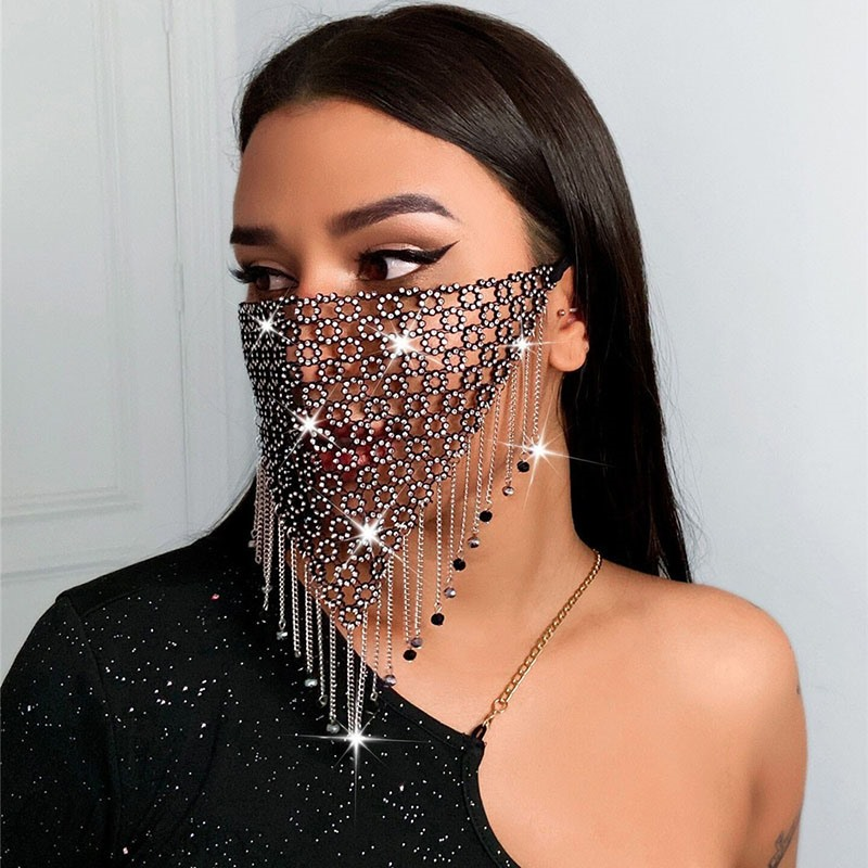 European Style Women's Prom Cccasion Water Drop Pattern Birdcage Veil Hair Accessories Face Mask