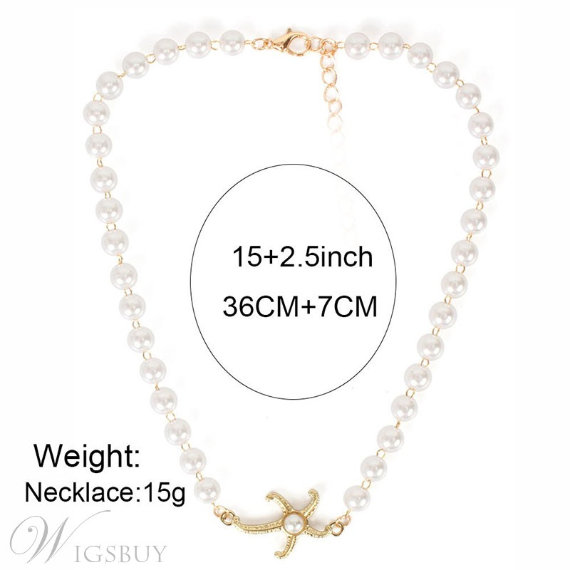 Women's Star Pattern Alloy Material E-Plating European Style Snake Chain Pendant Necklace