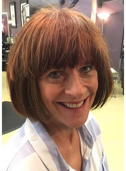 Fashion Women's Short Bob Hairstyles Straight Synthetic Hair Wigs With Bangs Capless Wigs 12Inch