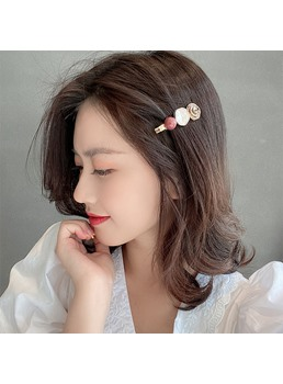 Korean Style Women's Diamante Technic Barrette Hair Accessories For Prom Party