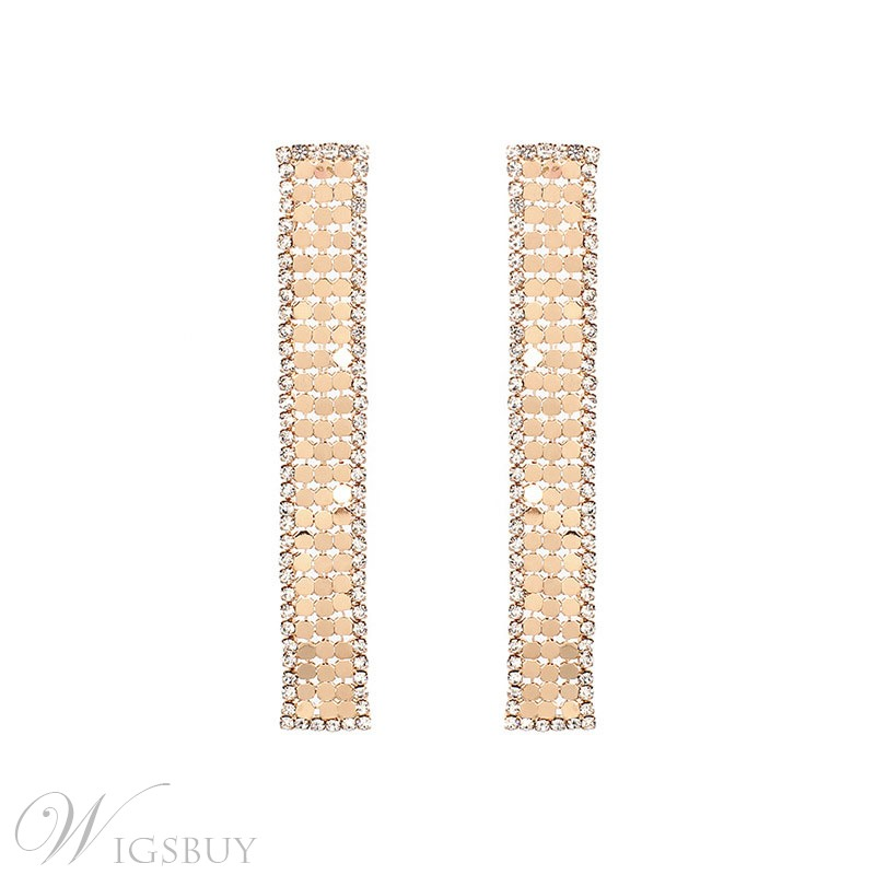 Adult Women's Eurpean Style Alloy Material Diamante Technic Drop Earrings For Wedding/Party/Gift