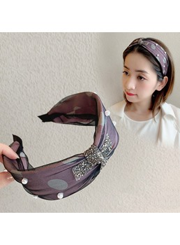 Korean Style Women's Hair Accessories Polka Dots Hairband for Gift