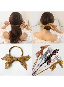 Adult Women's Korean Style Floral Pattern Hair Rope Hair Accessories