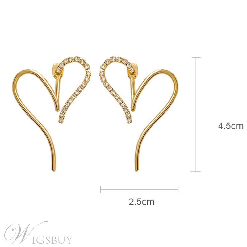 Korean Style Women/Ladies E-Plating Bronze Material Stud Type Earrings For Prom/Party/Birthday