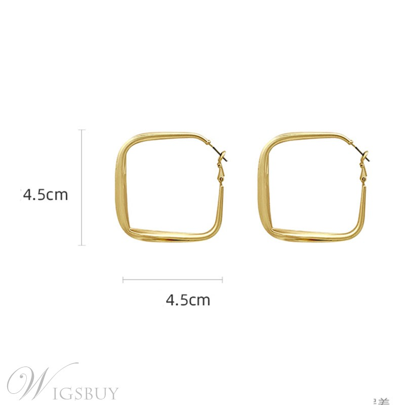 Prom/Party/Gift Suitable Occasion Women/Ladies Korean Style Alloy Material Hoop Type Earrings