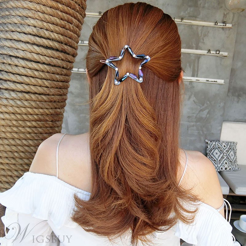 Women's Korean Style Star Pattern Crystal Material Hair Claw Hair Accessories for Gift