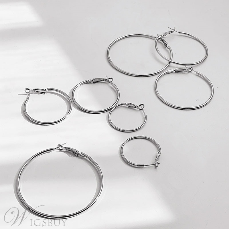 Women's Geometric Pattern Alloy Material Europen Style Hoop Earrings for Gift/Holiday
