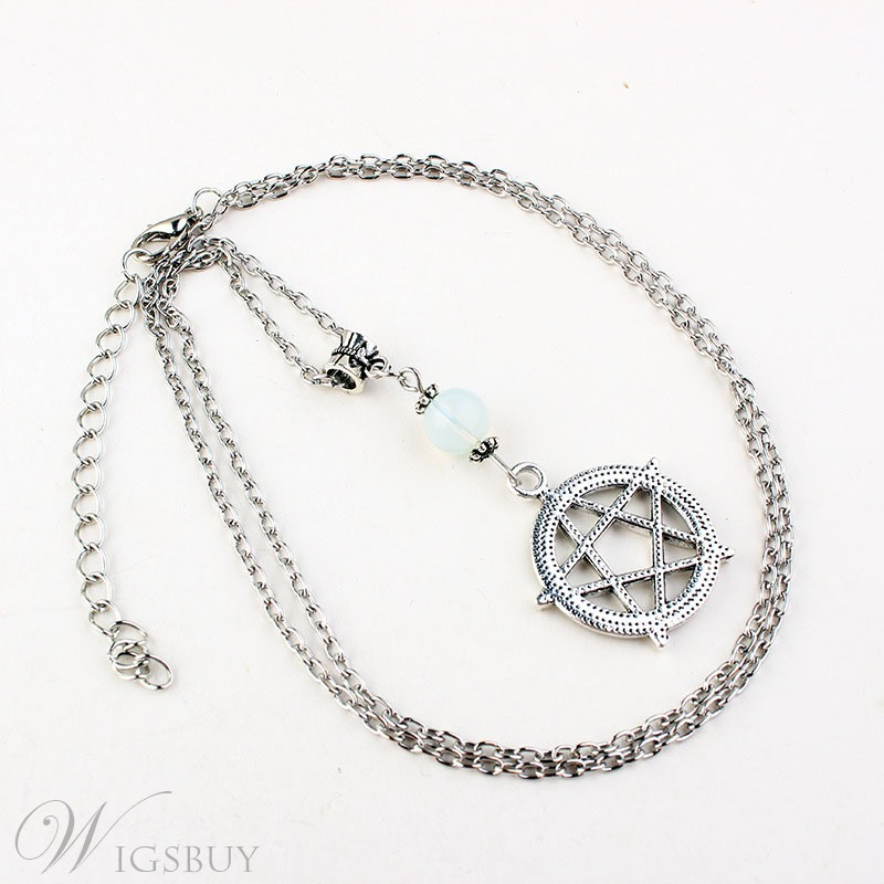 Vintage Style Women's Alloy E-Plating Link Chain Pendant Necklace For Wedding Party