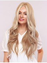 Natural Looking Women's Body Wave Blonde Color Synthetic Hair Capless Wigs 130% Density 30Inches