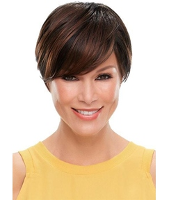 Short Bob Hairstyles Women's Natural Stright Human Hair Lace Front Wigs With Bangs 8Inch