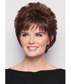 Women's Short Layered Hairstyles Voluminous Crop Straight Synthetic Hair Capless Wigs 10Inch