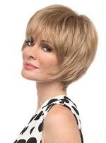 Short Bob Hairstyles Women's Natural Straight Human Hair Wigs With Bangs Lace Front Wig 8Inch