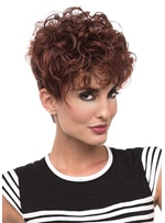 Women's Layered Boyish Cut And Artfully Wild Curls Synthetic Hair Capless Wigs 8Inch