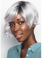 Women's Gorgeous Cut With a Curly Twist Wavy Pixie Synthetic Hair Capless Wigs 10Inch