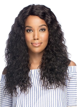 Natural Women's Long Length Layers Curls Human Hair Wigs Lace Front Wig 22Inch